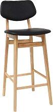 Design-Barhocker / -stuhl Schwarz und Holz