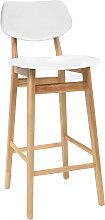Design-Barhocker / -stuhl Weiß und Holz