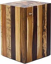 Design Beistelltisch Couchtisch Tisch Holz Treibholz Hocker Holzblock Massiv Stabil Blumenhocker Echtholz Geschenk Holz Massivholz Von Brillibrum (Mittel)