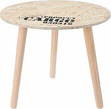 Design Beistelltisch - Holz Tisch rund 40 cm -