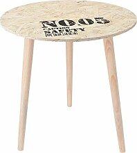 Sofatisch Holz Tisch rund Dekorativer Beistelltisch 36x30 cm 3 Farben