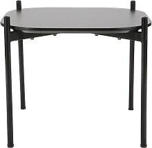 Design-Beistelltisch SEGA aus schwarzem Metall 50