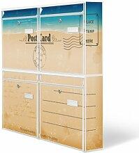 Design Briefkasten Anlage 4 Briefkästen Mailbox mit Motiv: Postkarte