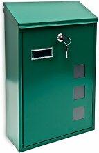 Design Briefkasten aus Metall 25x40 cm Grün