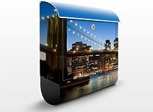 Design Briefkasten Brooklyn Brücke in New York 39x46x13cm