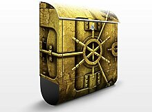 Design Briefkasten Golden Safe | Oktogons Polygone