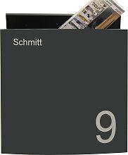 Design Briefkasten mit Hausnummer BH1