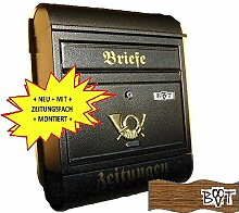 Design Briefkasten R schwarz anthrazit grau