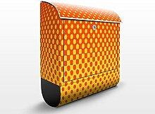 Design Briefkasten Retro Disco Kugel | Club Ball Spiegel Tanzen Licht, Postkasten mit Zeitungsrolle, Wandbriefkasten, Mailbox, Letterbox, Briefkastenanlage, Dekorfolie