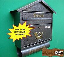 Design Briefkasten Retro SD in Hammerschlag Farbe