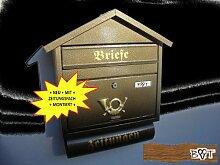 Design Briefkasten S in messing gold metallic