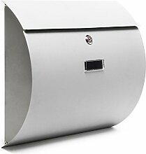 Design Briefkasten V17 Postkasten Silber