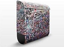 Design Briefkasten Verona Romeo & Julia | Italien Typografie William , Postkasten mit Zeitungsrolle, Wandbriefkasten, Mailbox, Letterbox, Briefkastenanlage, Dekorfolie