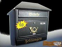 Design Briefkasten W schwarz anthrazit grau