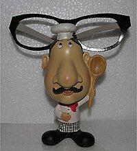 Design-Brillenhalter Ständer Ablage Koch lustige Geschenkidee Gilde Figur