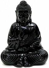 Design Buddha 6 Varianten Blau Weiß Schwarz Grün Rot Lla Figur Feng Shuhi Lotus Dekoration + Brillibrum® Flyer Geschenke Geschenkidee Kinder (Buddha - Schwarz)