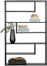 Design Bücherregal in Schwarz Metall