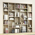 Design Bücherwand in Sonoma-Eiche modern