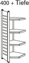 Design Büroregal Theo Kerkmann M2 Anbau-Feld 4