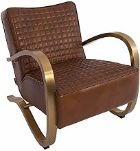 Design-Clubsessel Giacomet Whiskey Brown Edelstahl