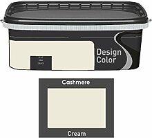 Design Color 2,5 L. farbige Innenfarbe, Wandfarbe Creme, Cream, Ma