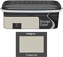 Design Color 2,5 L. farbige Innenfarbe, Wandfarbe Grau, Trawertyn, Ma