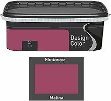 Design Color 2,5 L. farbige Innenfarbe, Wandfarbe Himbeere, Malina, Rot, Ma