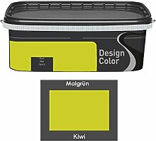 Design Color 2,5 L. farbige Innenfarbe, Wandfarbe Kiwi, Grün, Ma