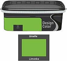 Design Color 2,5 L. farbige Innenfarbe, Wandfarbe Limonka, Limette, Grün, Ma