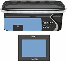 Design Color 2,5 L. farbige Innenfarbe, Wandfarbe Ocean, Blau, Ma