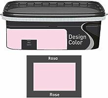 Design Color 2,5 L. farbige Innenfarbe, Wandfarbe Rosa, Rose, Ma
