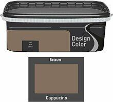 Design Color 5 L. farbige Innenfarbe, Wandfarbe Cappuchino, Cappucino, Braun, Ma