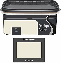 Design Color 5 L. farbige Innenfarbe, Wandfarbe Creme, Cream, Ma