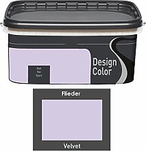 Design Color 5 L. farbige Innenfarbe, Wandfarbe, Farbwahl, Matt (Flieder, Velvet)