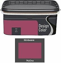 Design Color 5 L. farbige Innenfarbe, Wandfarbe Himbeere, Malina, Rot, Ma