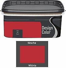 Design Color 5 L. farbige Innenfarbe, Wandfarbe Kirsche, Wisnia, Rot, Ma