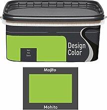 Design Color 5 L. farbige Innenfarbe, Wandfarbe Mojito, Mohito, Grün, Ma
