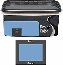 Design Color 5 L. farbige Innenfarbe, Wandfarbe Ocean, Blau, Ma