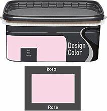 Design Color 5 L. farbige Innenfarbe, Wandfarbe Rosa, Rose, Ma