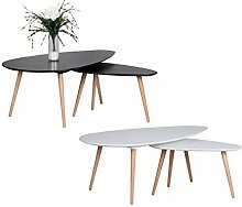 Design Couchtisch 2er Set SKANDI Skandinavischer
