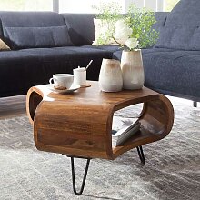 Design Couchtisch aus Sheesham Massivholz 60 cm