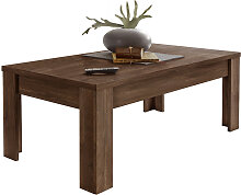 Design-Couchtisch dunkles Holz 122cm LAND