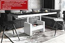 Design Couchtisch HLU-111 Schwarz MATT/Weiß