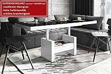Design Couchtisch HLU-111 Schwarz Weiß Hochglanz