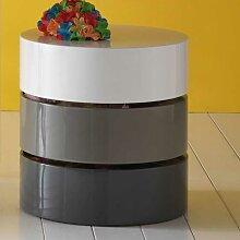 Design Couchtisch  in Grau Weiß Hochglanz