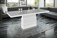 Design Couchtisch Matera Lux H-333 Grau/Weiß