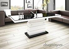 Design Couchtisch Matera Lux H-333 Schwarz/Weiß
