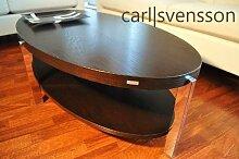 Design Couchtisch O-111 Walnuss/Wenge oval Carl
