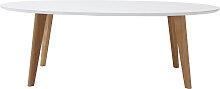 Design-Couchtisch Oval 120 cm Weiß EKKA