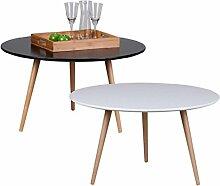 Design Couchtisch SKANDI 80 x 80 x 45 cm Form Rund